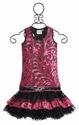 Ooh La La Couture Girls Skirt Set Black and Pink