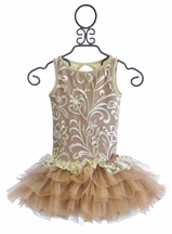 Ooh La La Couture Girls Special Occasion Dress in Champagne (2T,3T,8,10)