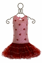 Ooh La La Couture Girls Special Occasion Dress Red Kisses