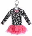 Ooh La La Couture Heart Back Girls Dress in Zebra