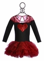Ooh La La Couture Heart Dress for Girls in Red and Black