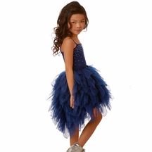 Ooh la la Couture High Low Dress in Blue
