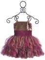 Ooh La La Couture Holiday Dress for Girls in Rose Gold