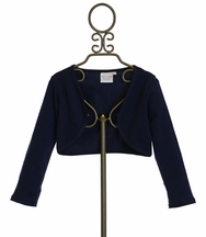 Ooh La La Couture Navy Girls Bolero (3T,5,6,6X/7)