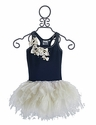 Ooh La La Couture Navy Little Bow Dress for Girls
