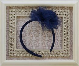 Ooh La La Couture Navy Tulle Flower Headband