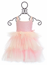 Ooh La La Couture Pink Sequin 3 Tier Dress