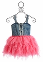 Ooh La La Couture Pink Tutu Dress with Denim