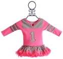 Ooh La La Couture Pink Varsity Birthday Dress for Girls