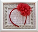 Ooh La La Couture Red Flower Headband for Girls