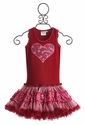Ooh La La Couture Red Heart Girls Dress (Size 12 Mos)