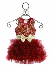 Ooh La La Couture Red Lace Dream Dress Ivory Bow