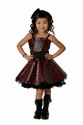 Ooh La La Couture Red Pleather Girls Party Dress