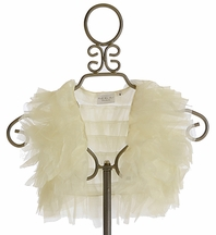 Ooh La La Couture Ruffle Shrug in Ivory (Size 5)
