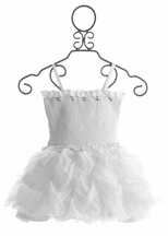 Ooh La La Couture Ruffled White Dress for Girls (3T,4T,4,5,6)