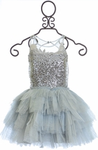 Ooh la la Couture Sequin Dress with Tutu in Silver