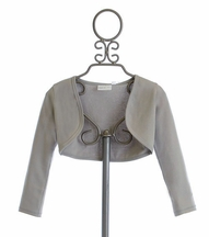Ooh La La Couture Silver Bolero for Girls (18Mos,24Mos,4,5)