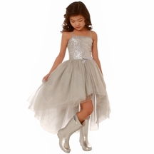 Ooh la la Couture Special Occasion Dress in Silver