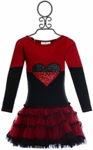 Ooh la la Couture Split Heart Dress in Black and Red