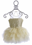 Ooh La La Couture Tulle Sequin Dress in Ivory