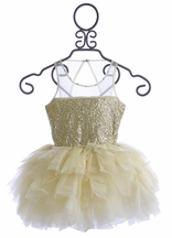 Ooh La La Couture Tulle Sequin Dress in Ivory (Size 4)