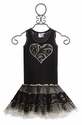 Ooh La La Couture Tutu Dress for Girls in Black with Heart
