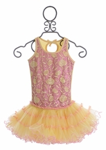 Ooh La La Couture Tutu Dress for Girls Rose Embroidered (12Mos,18Mos,6)