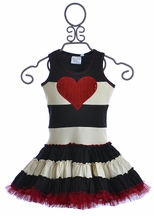 Ooh La La Couture Twirly Heart Dress for Girls with Stripes (Size 12Mos)