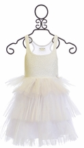 Ooh La La Couture White Sequin Tier Dress
