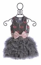 Ooh La La Couture Wow Dream Dress Platinum with Hearts (4,6,6X/7)