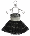 Ooh La La Girls Black and Silver Dress with Pouf Skirt