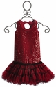 Ooh La La Couture Girls Drop Waist Red Sequin Dress