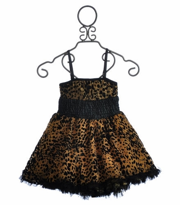 Ooh La La Girls Pouf Dress Wild Cheetah