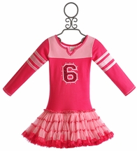 Ooh La La Girls Varsity Birthday Dress in Hot Pink (12Mos & 18Mos)