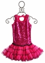 Ooh La La Hot Pink Sequin Girls Dress with Pettiskirt