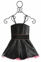 Ooh La La Party Dress for Girls in Black Pleather