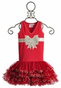 Ooh La La Red Girls Dress Ruffle with Bow - 12 Mos