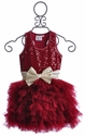 Ooh La La Couture Wow Dream Girls Holiday Dress in Red
