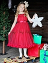 Oopsy Daisy Red Holiday Girls Pettiskirt Dress