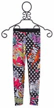 Over the Top Cartoon Print Leggings for Girls (Size 12)
