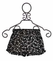 Over The Top Girls Flowy Shorts in Black and White