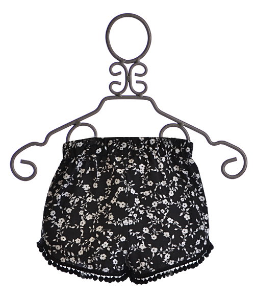 OVER THE TOP GIRLS FLOWY SHORTS IN BLACK AND WHITE on The Hunt