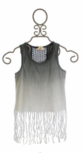 Over The Top Girls Fringe Tank Top in Ombre (Size 7)