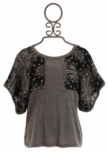 Over The Top Gray Tunic with Wing Sleeves (Size 10)
