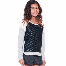Over Top Hi Low Sweatshirt for Tweens
