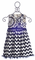 Owls and Bats Chevron Dress for Girls