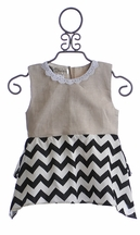 Owls and Bats Chevron Flare Tunic Top (3T,6X,7,8)