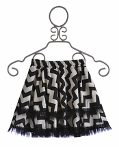Owls and Bats Chevron Girls Skirt (4T,6,6X,7)