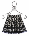 Owls and Bats Chevron Girls Skirt