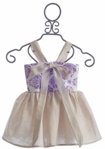 Owls and Bats Girls Bow Top (5 & 6X)
